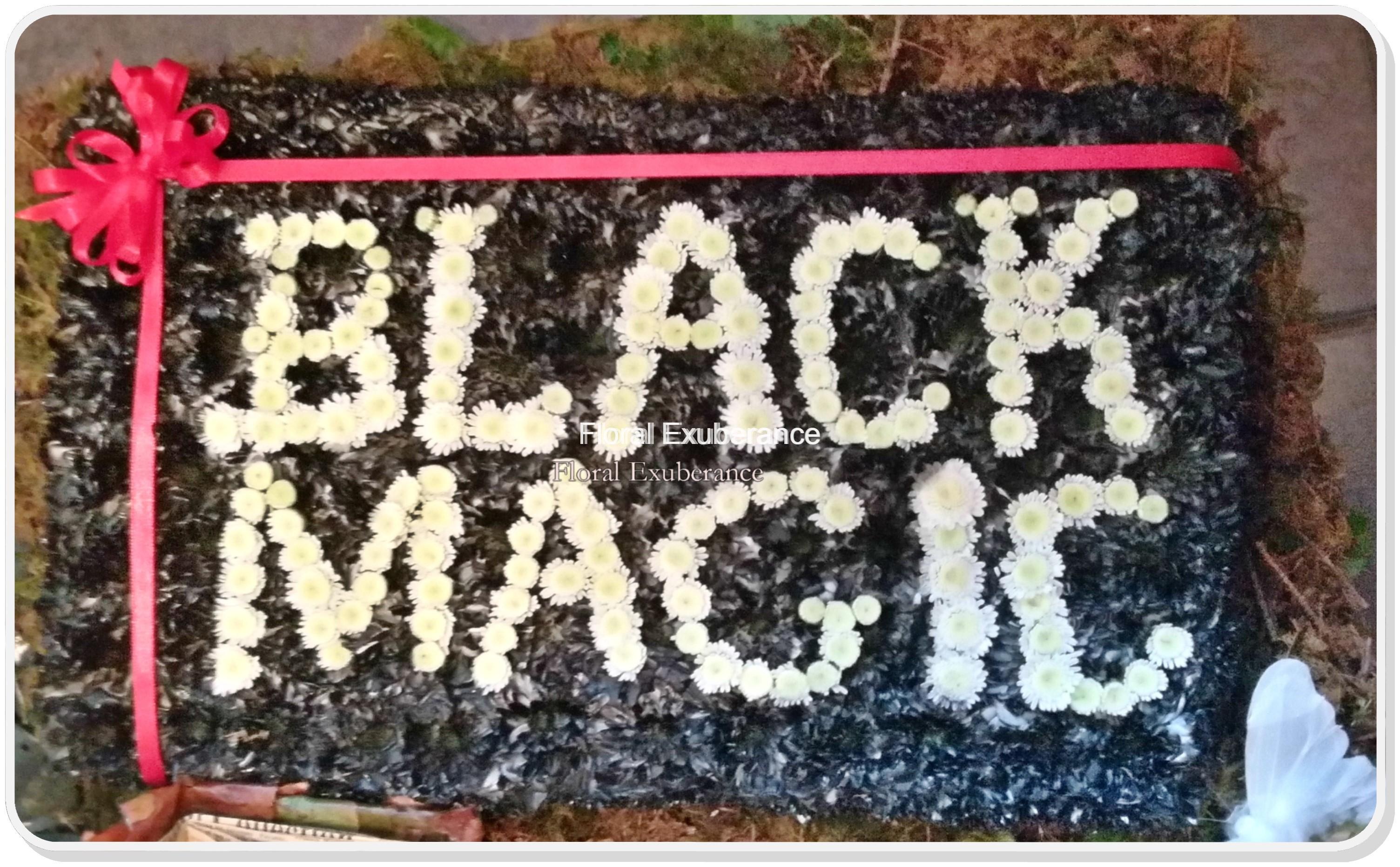 Black Magic Chocolate Box Funeral Flower Wreath